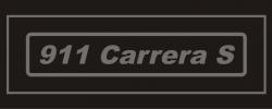 911 Carrera S Badge Mock up black background