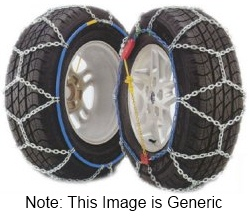 Pair of Snow Ice Chains Husky 9mm 110 215 70 x 15