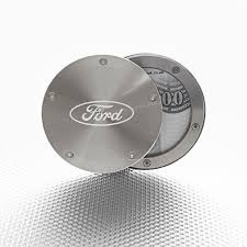 Ford Twist Off Back Tax Disc Holder- Titanium with Ford Logo