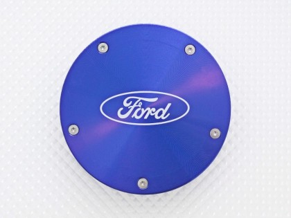 Ford Twist Off Back Tax Disc Holder - Blue with Ford logo