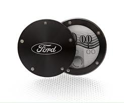 Ford Twist Off Back Tax Disc Holder - Black with Ford Logo