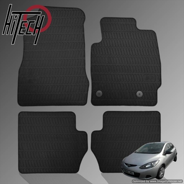 Mazda 2 Hatchback Rubber Car Mats
