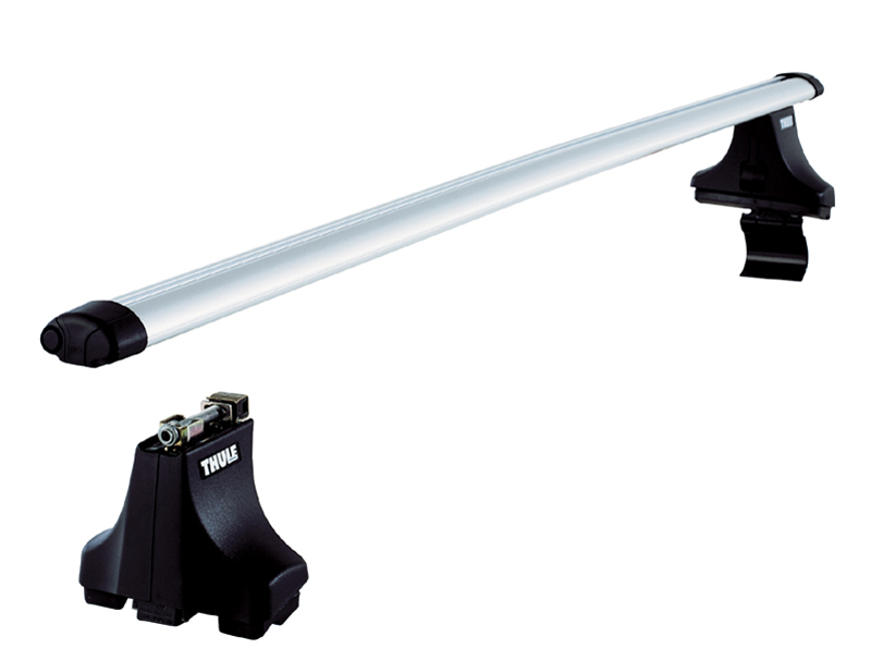 thule aluminium aero roof bars rails rack fits landrover. Black Bedroom Furniture Sets. Home Design Ideas