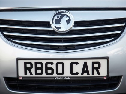 Vauxhall Number Plate Surround